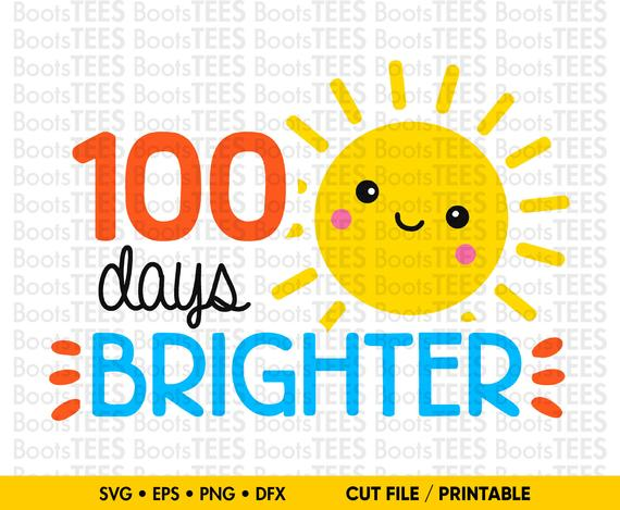 100 Days Brighter SVG.