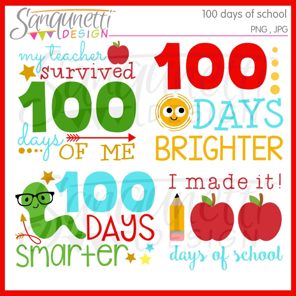I Survived 100 Days Of School Clipart.