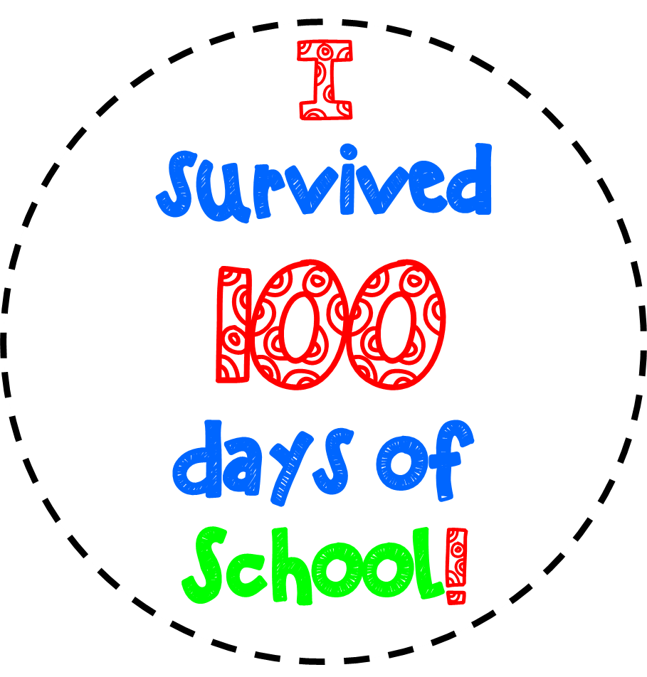 FREE 100TH DAY OF SCHOOL CLIPART.