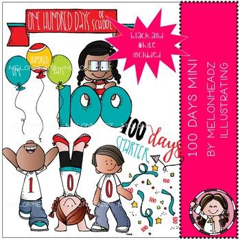 100 Days of School clip art.