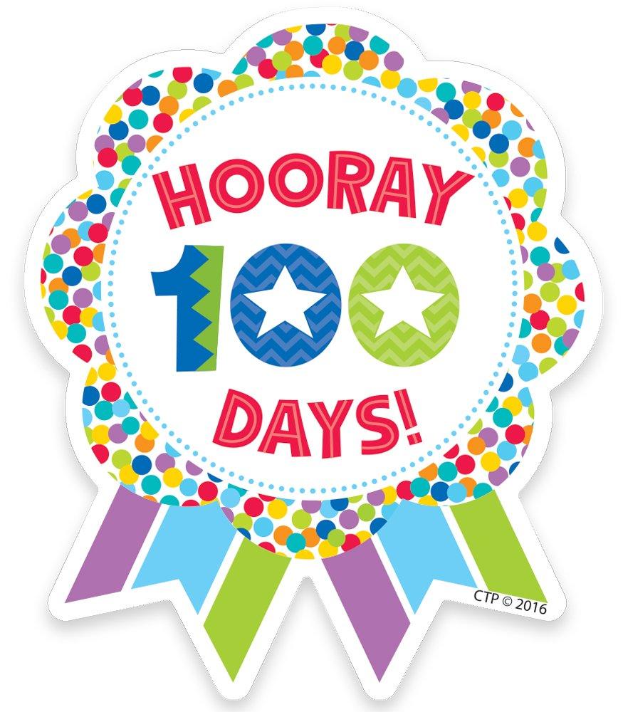 Creative Teaching Press Hooray 100 Days! Ribbon Reward Badge (1800).