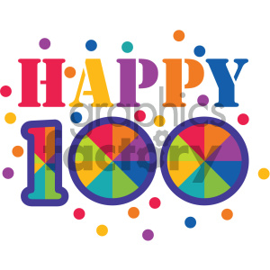 happy 100 days of school clipart. Royalty.