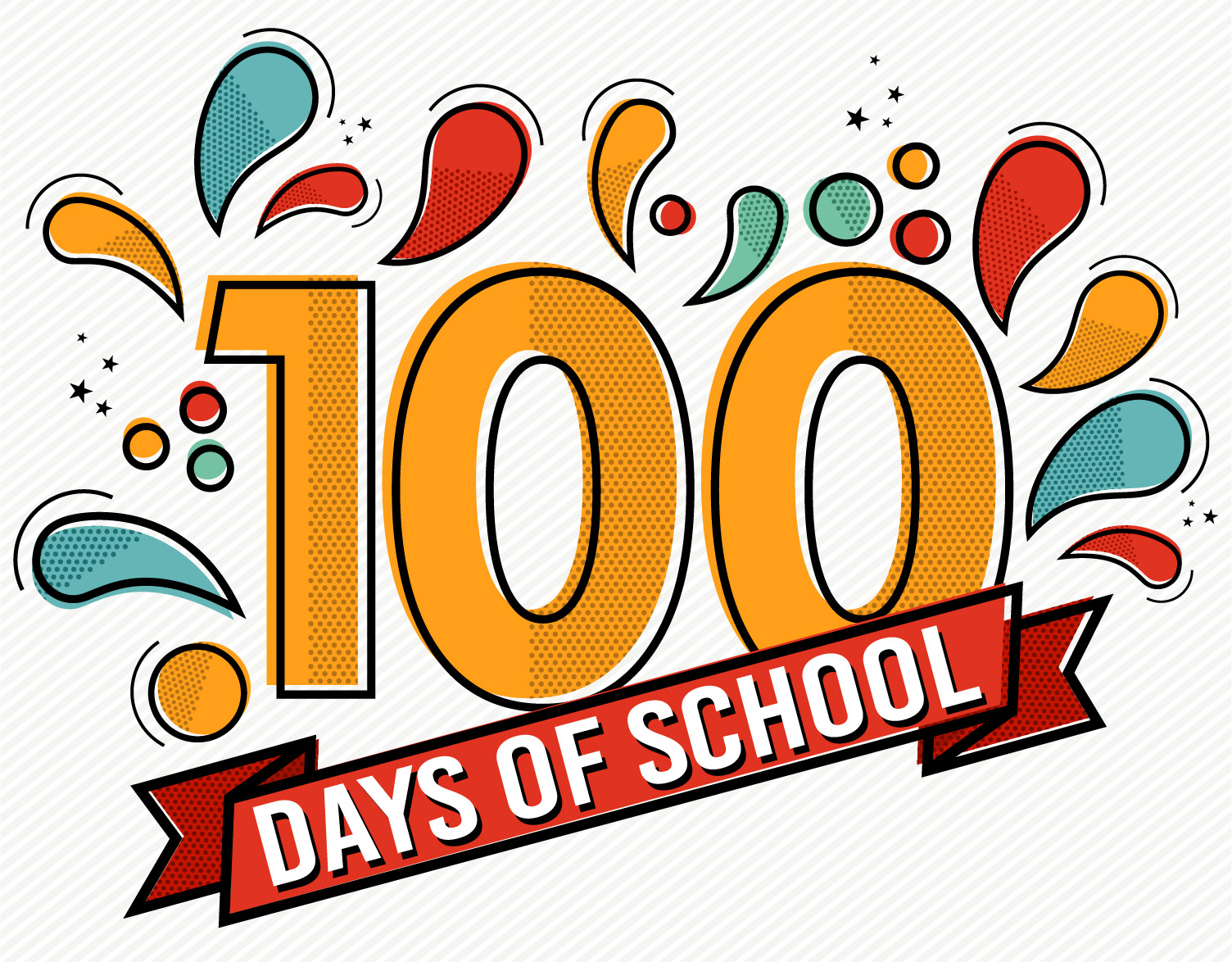 100 days of school clipart 6 » Clipart Station.