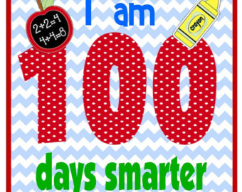 Items similar to 100 Days Smarter/Brighter Iron on on Etsy.