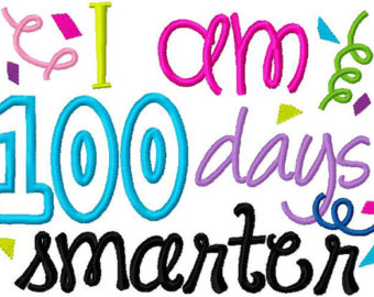 100 Days Smarter Clipart.