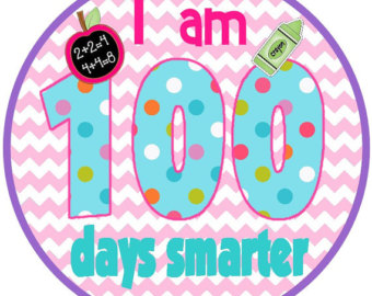 This is a photo of Bright 100 Days Smarter Printable