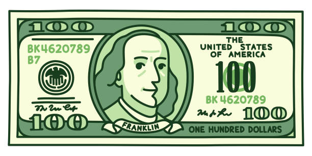 Best One Hundred Dollar Bill Illustrations, Royalty.