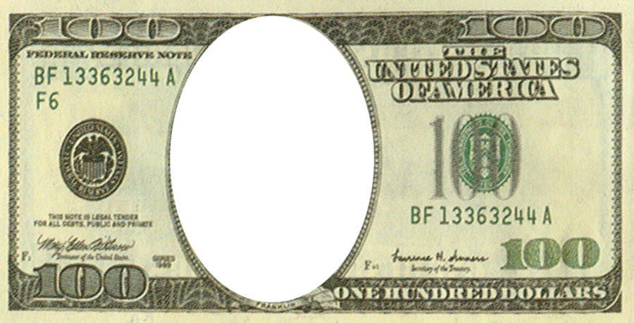Free collection of 100 dollar bills png. Download transparent clip.