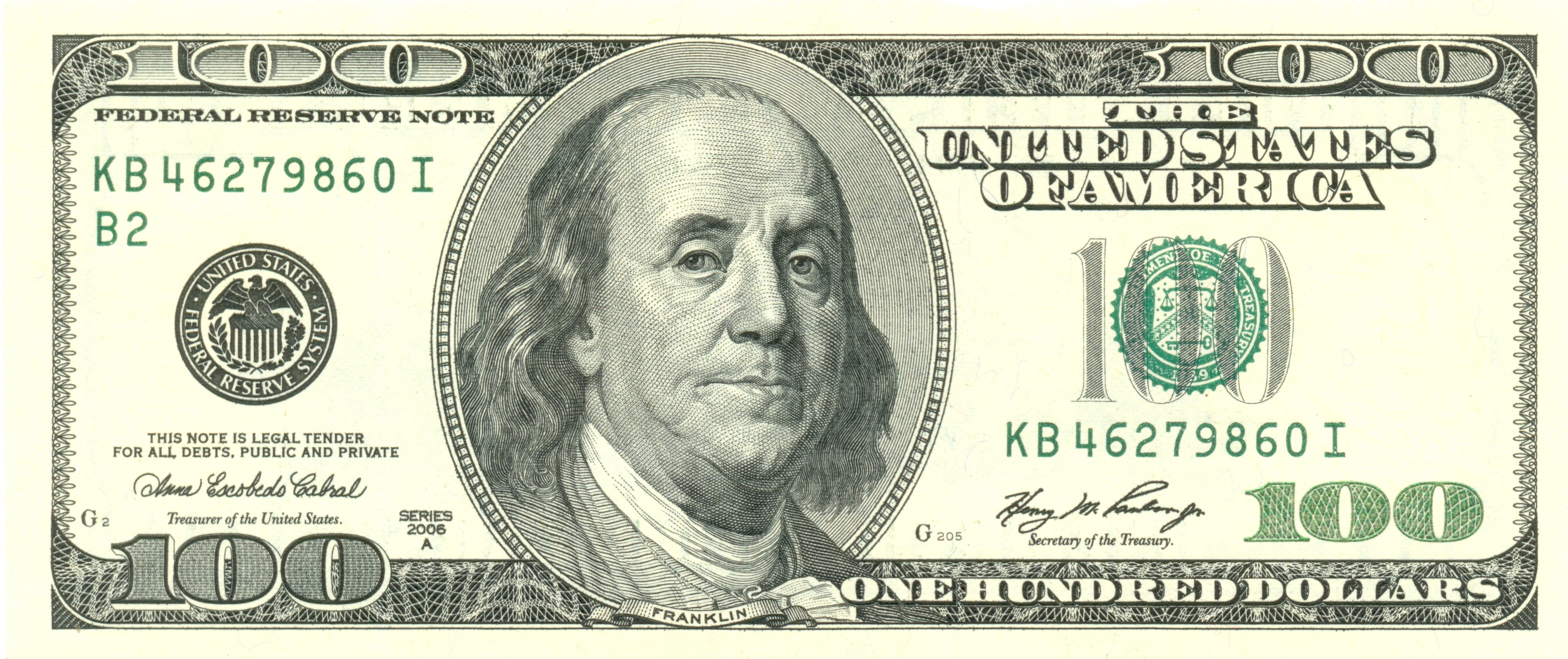 Bill clipart 100 dollar, Bill 100 dollar Transparent FREE.