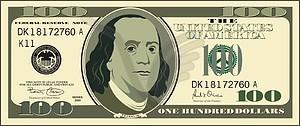100 dollar bills clipart 1 » Clipart Station.