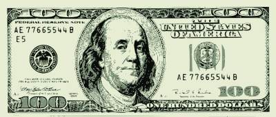 100 dollar bill vector.
