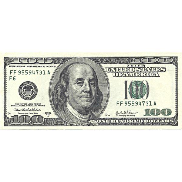 US hundred dollar bill.