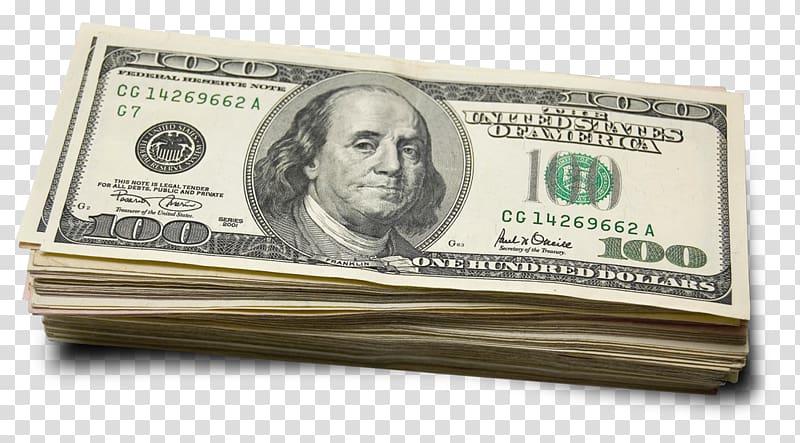 100 U.S. dollar banknote lot, United States one hundred.