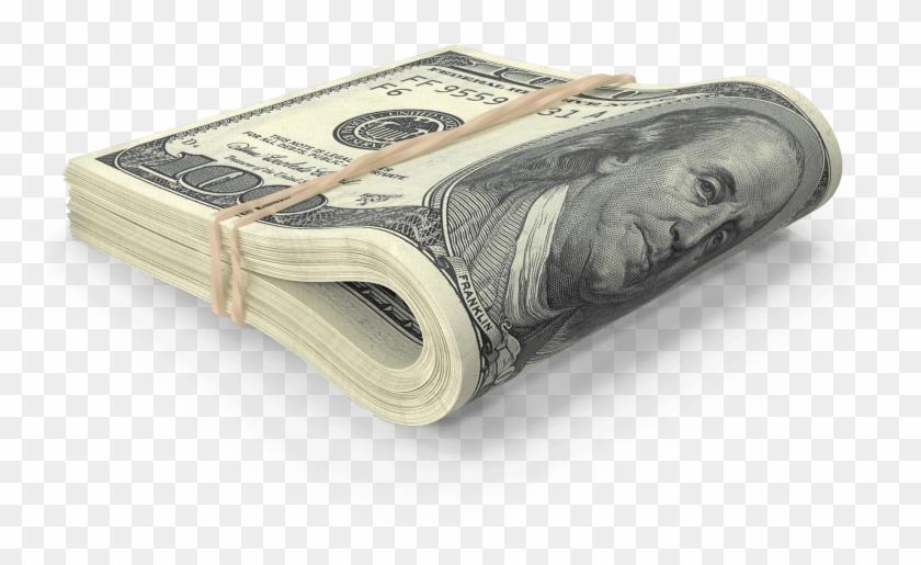 Us 100 Dollar Bill Folded.