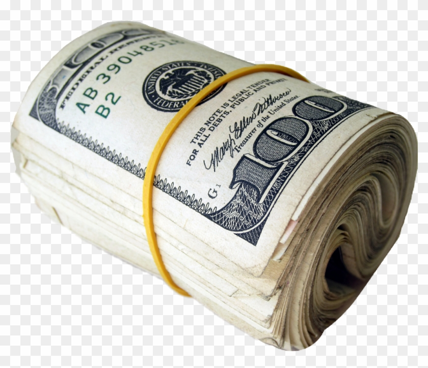 Rolled Up 100 Dollar Bills, HD Png Download (#1262217), Free.