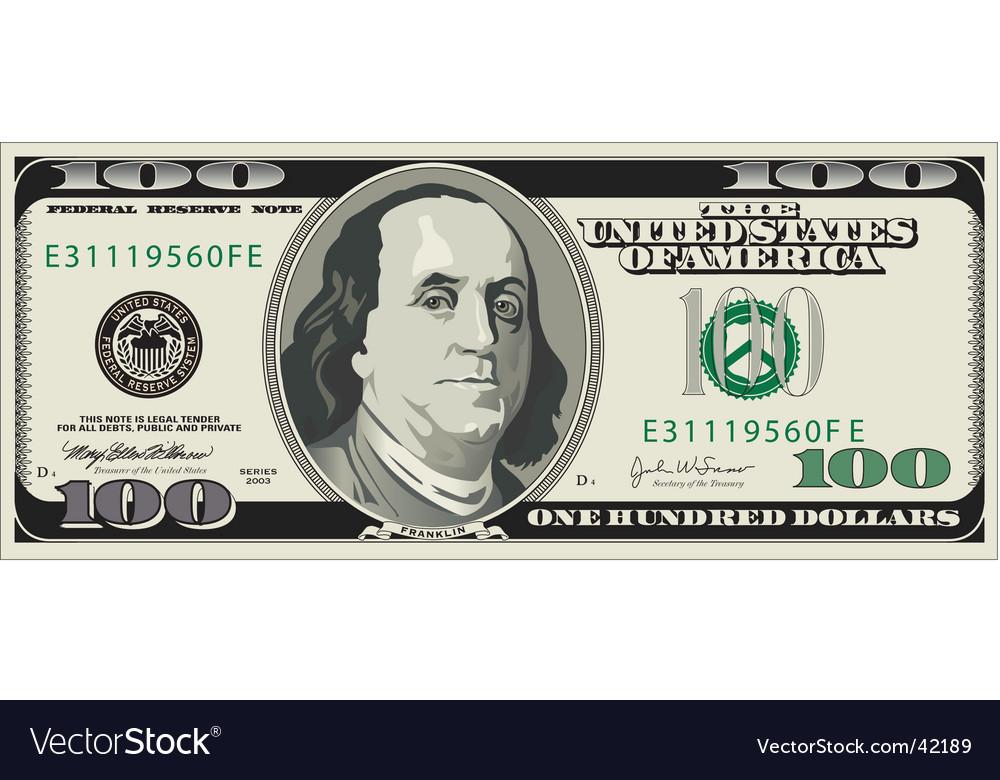$100 Bill Clipart.