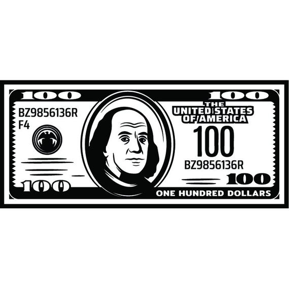 Money #12 Cash Stack 100 Dollar Bills Currency Business Advertising Design  Element Logo.SVG .EPS .PNG Clipart Vector Cricut Cut Cutting File.