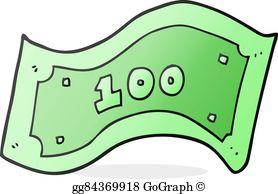 One Hundred Dollar Bill Clip Art.