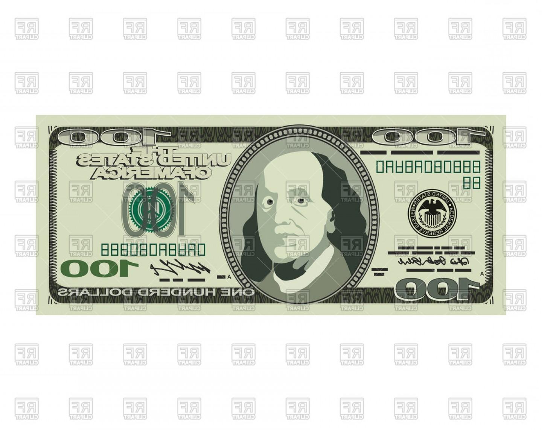 Dollar Isolated Vector Clipart.