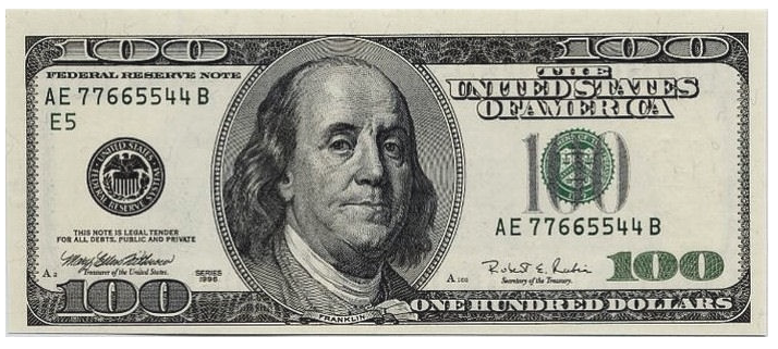 100 Dollars PNG Picture.
