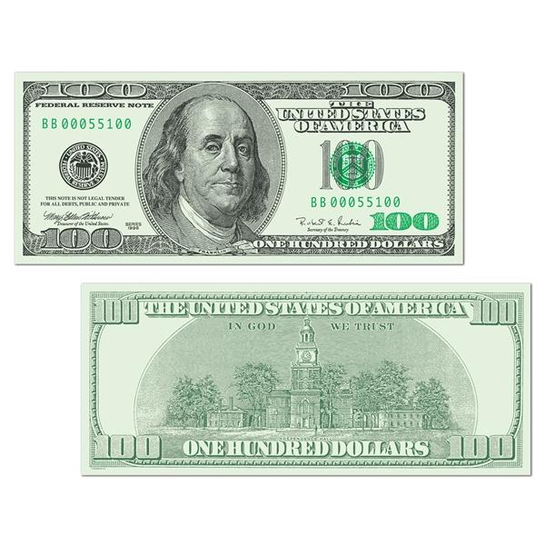 1 Million Dollar Bill Cutout.
