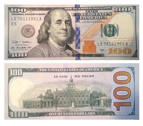 100 U.S. dollar banknote, front.
