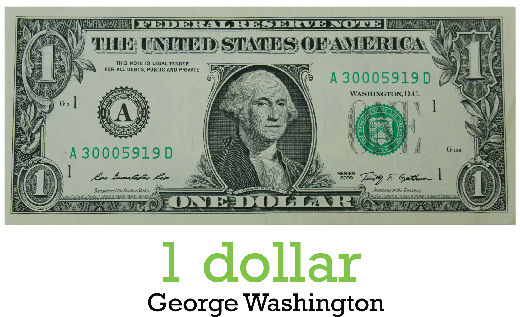 Download HD One Dollar Png.