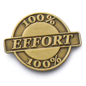 Give Your 100 Percent Effort.