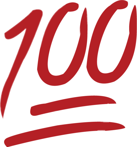 100 Emoji Clipart.