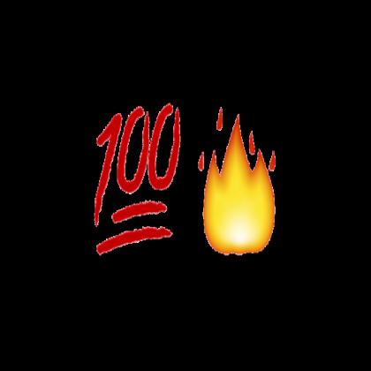 100 Emoji and Fire.