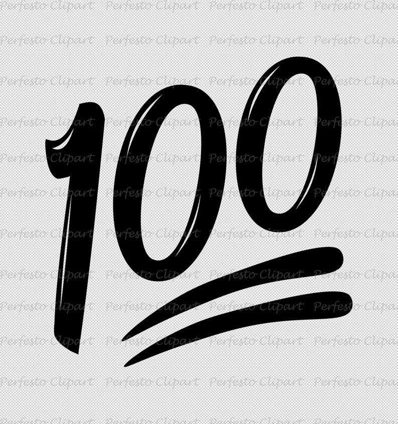Hundred Points Emoji / 100 Emoji SVG / PNG / Instant Download.