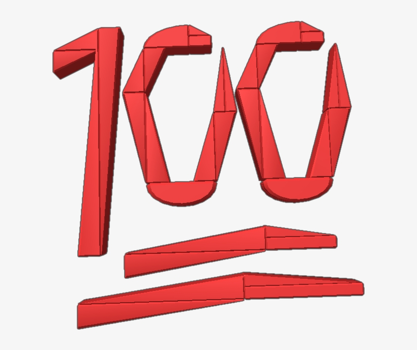 100 Emoji Red I Don't Really Have Anything Else To.