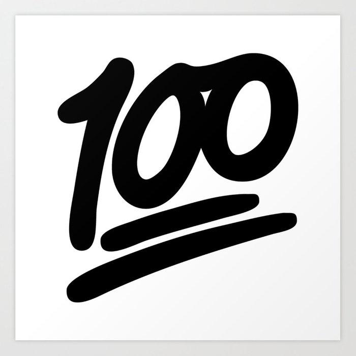 100 EMOJI BLACK Art Print by nolandempsey.