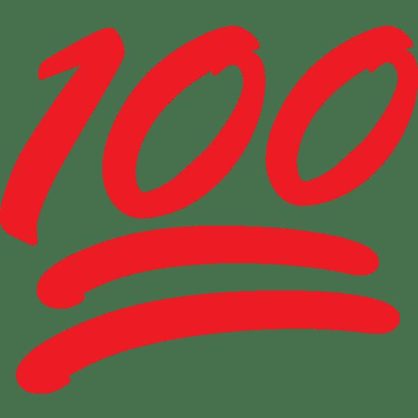 100 Emoji transparent PNG.