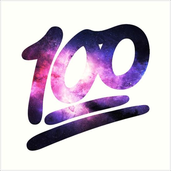 '100 Emoji (Hundred Points)' Art Print by Greg B.