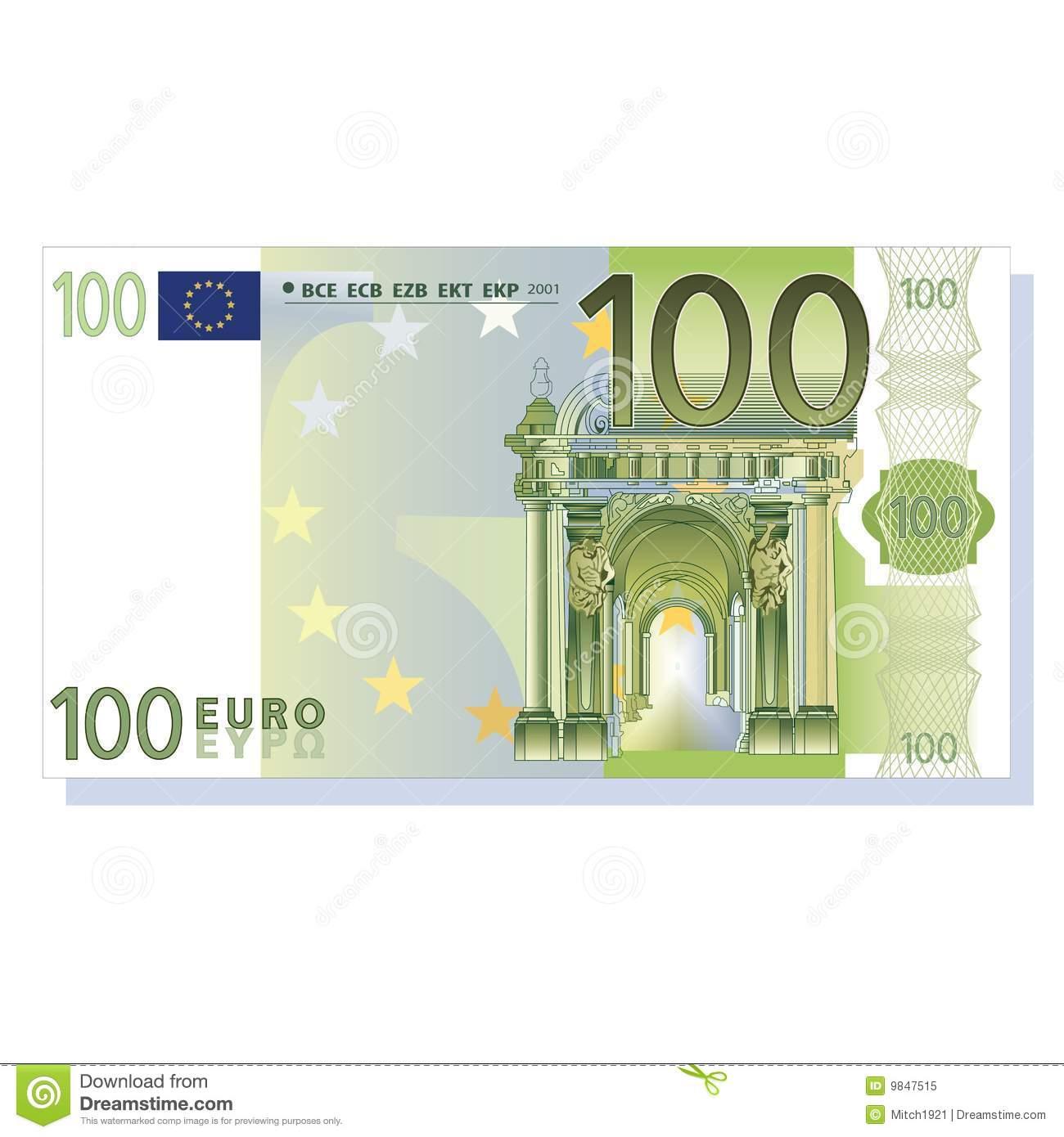 100 Euro Stock Illustrations.
