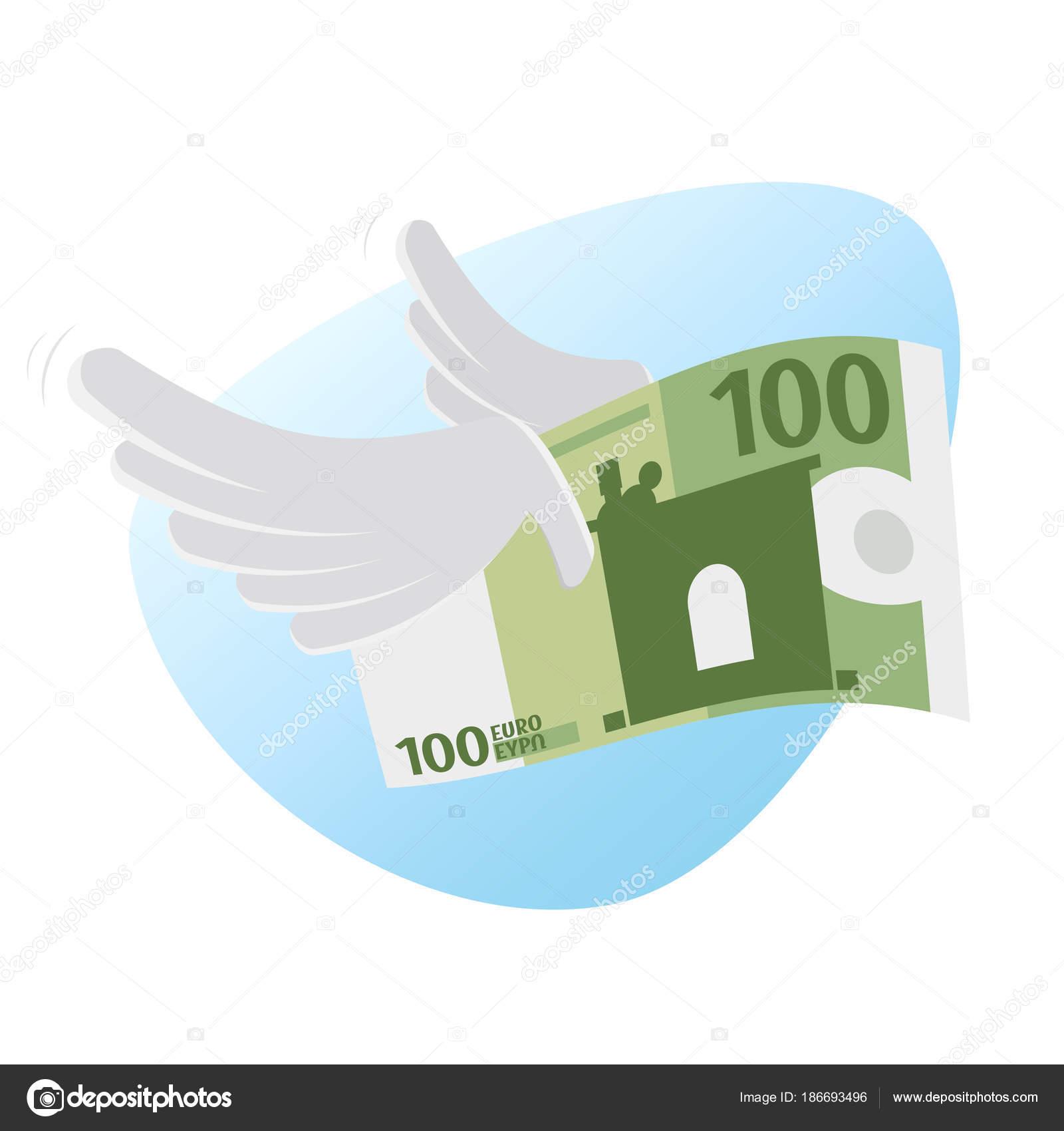 Clipart Euro Bank Note Wings — Stock Vector © shockfactor.de #186693496.