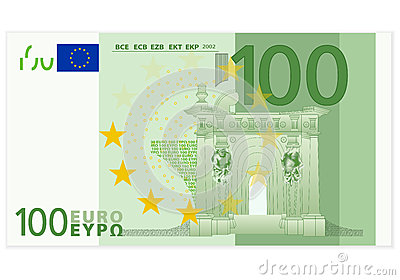 100 Euro Banknote Stock Illustrations.