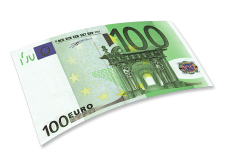 100 Euro Bill PNG Clipart.