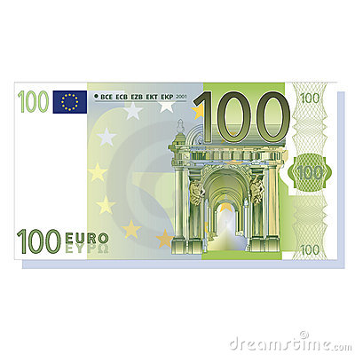 Banknote 100 Euro Stock Image.