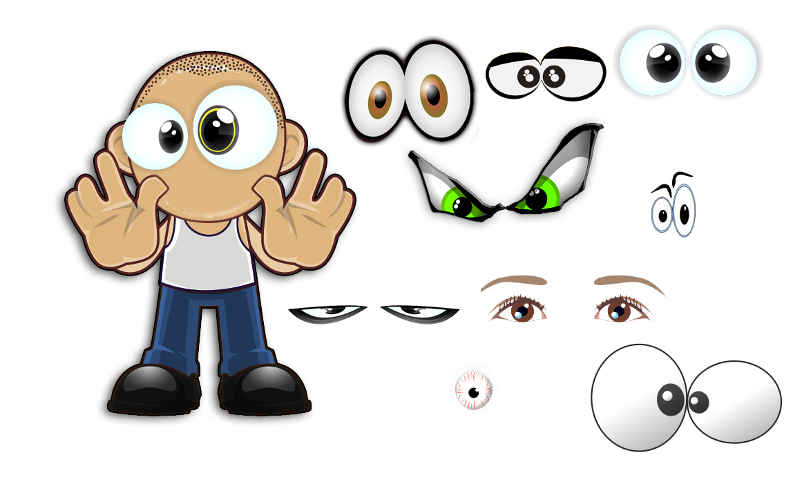 Eye clipart character, Eye character Transparent FREE for.