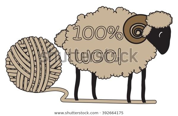 100 Sheeps Wool Vector Illustration Stock Vector (Royalty.