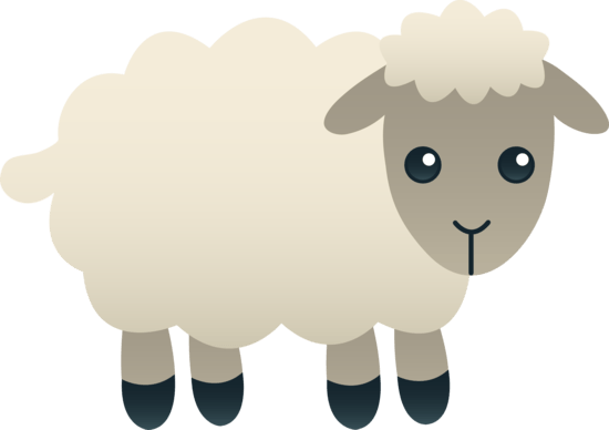 White sheep clipart transparent background.