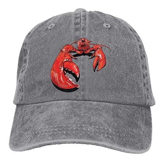 2018 Adult Fashion Cotton Denim Baseball Cap Lobster Clipart.