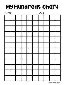 FREE Hundreds Chart Printables: 100 and 120 {A Hughes Design}.