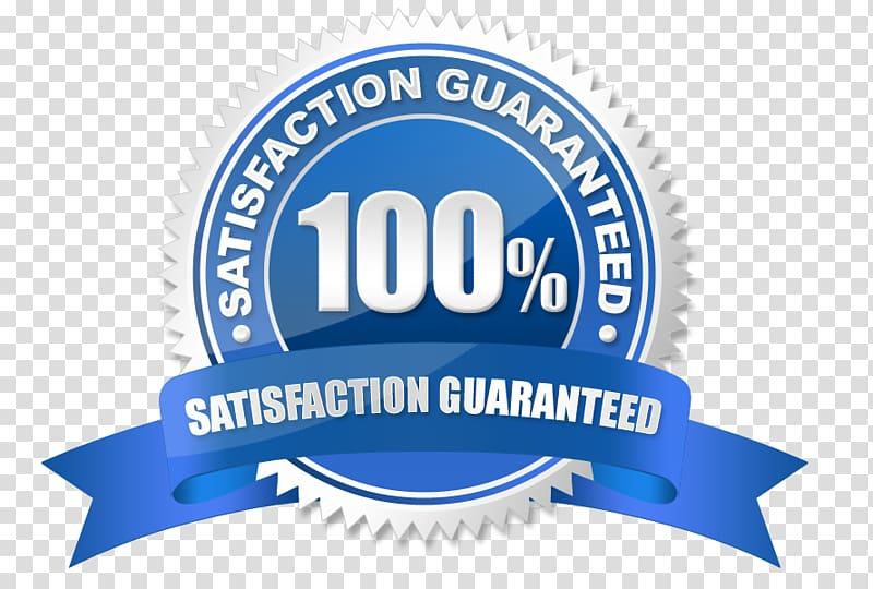 100 % satisfaction guaranteed logo, Money back guarantee.