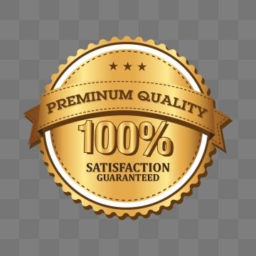 Satisfaction 100 Percent Guarantee Png, Vector, PSD, and Clipart.