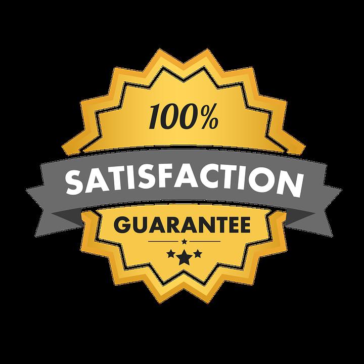 Satisfaction Guarantee 100.