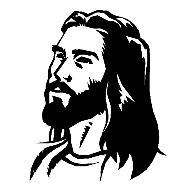 Jesus Christ free vector clip art.