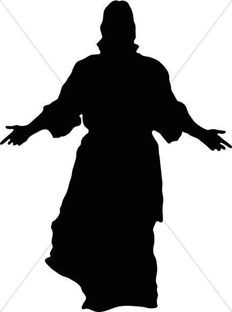 Jesus in Silhouette.
